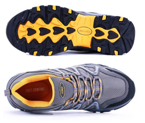13. TFO Waterproof Shoes for Men with Air Circulation Insole Ankle Support for Outdoor - Breathable Shoes
