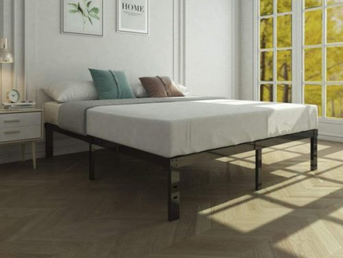 14. 45MinST Wooden Slat Metal Foldable Bed Frame with Noise Free - Needed Heavy Duty Portable Beds