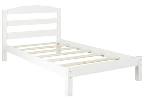 2. Dorel Living Braylon T White Twin Bed Frame with Headboard