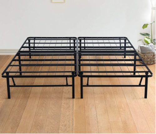 3. Olee Sleep Dura Foldable Bed Frame with Extra Height Under Bed Storage - Folding Twin Bed