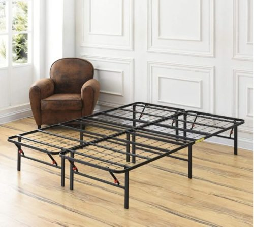 4. Classic Brands Hercules Foldable Bed Frame with Metal Platform and Mattress Foundation - Needed for Sturdy Portable Beds