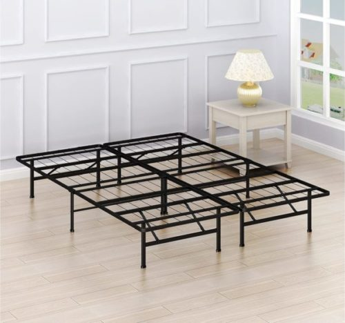 5. Simple Houseware Foldable Bed Frame and King Size Mattress Foundation - Queen Fold Up Bed