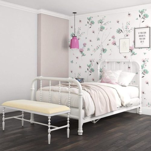 6. DHP Jenny Metal Twin Bed Frame with Headboard