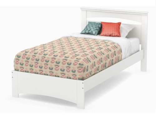 7. South Shore White Twin Bed Frame with Headboard