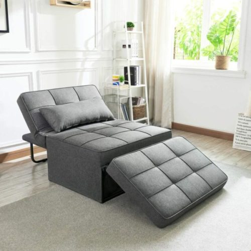 7. Vonanda Convertible Multi-Function Sofa Modern Breathable Guest Bed with Folding Bed Frame