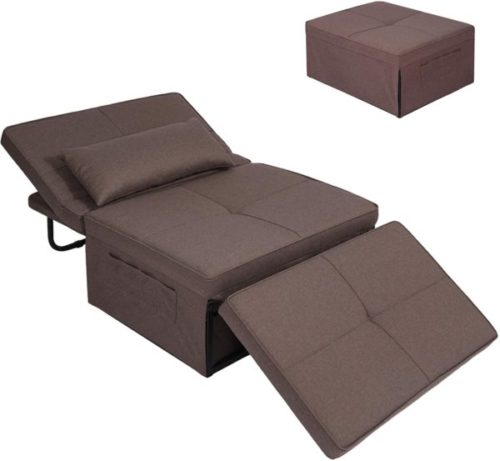 9. Convertible Chair Sleeper Multi-Function Guest Bed for Small Space - Folding Bed Frame