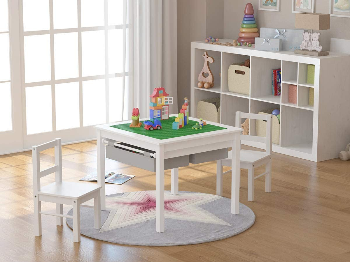 UTEX UTEX 2-in-1 Kids Multi Activity Lego Tables with Storage