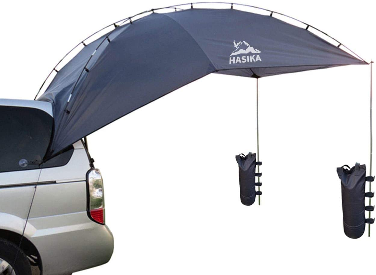 Hasika Versatility Teardrop Awning for SUV RVing, Car Camping
