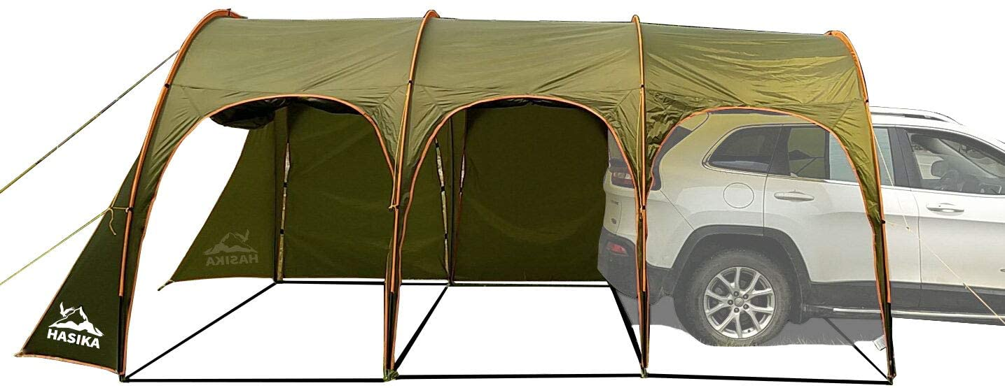 Hasika Family Camping Tunnel Tent Top for Car