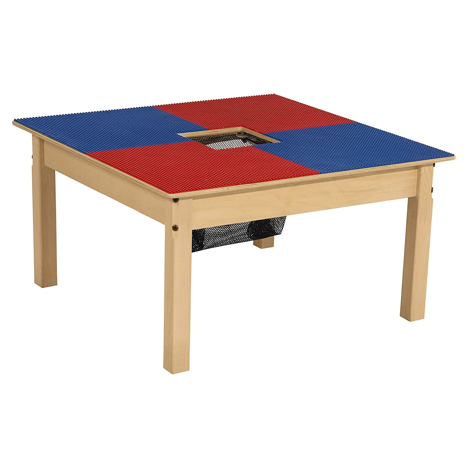 Wood Designs Time-2-Play Lego Table with Storage for Kids/Toddlers