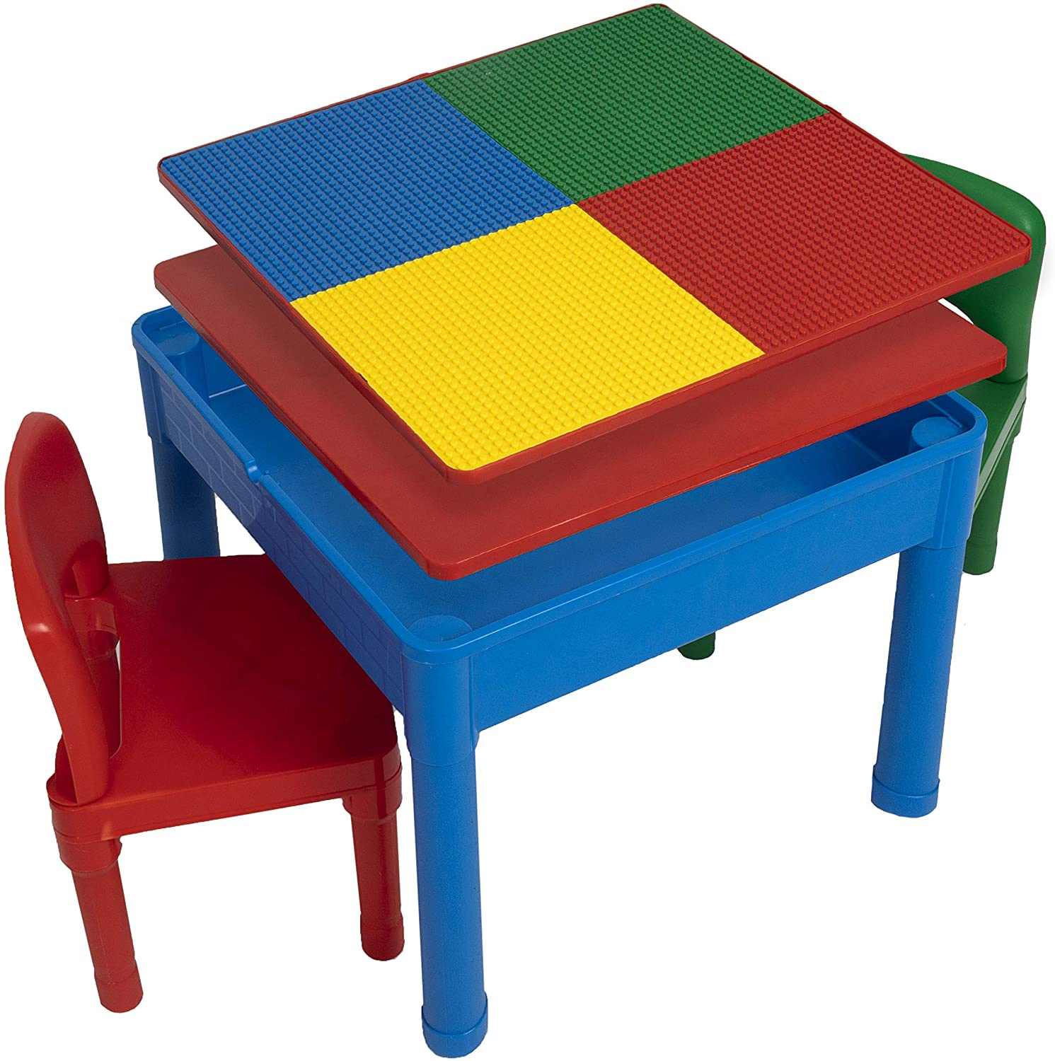 Play Platoon Kids Lego Tables with Storage - 5 in 1 Water Table