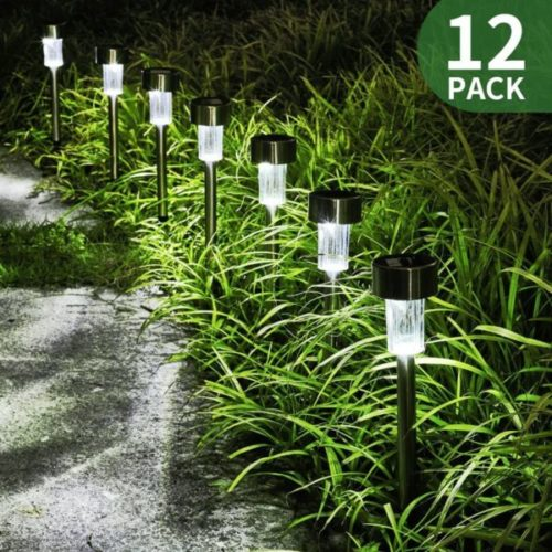 GIGALUMI Solar Christmas Lights Outdoor Stainless Steel