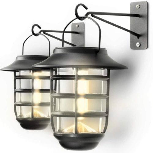 Home Zone Security Wall Mount Solar Powered Lantern for Home and Garden
