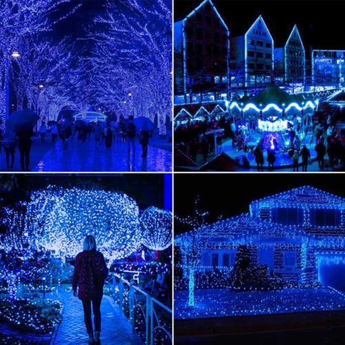 JosMega Solar Christmas Lights Outdoor LED Solar Powered String Fairy Lights