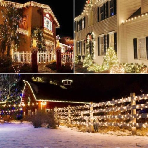 LORRYTE LED Waterproof Solar Christmas Lights String Outdoor, Copper Wire