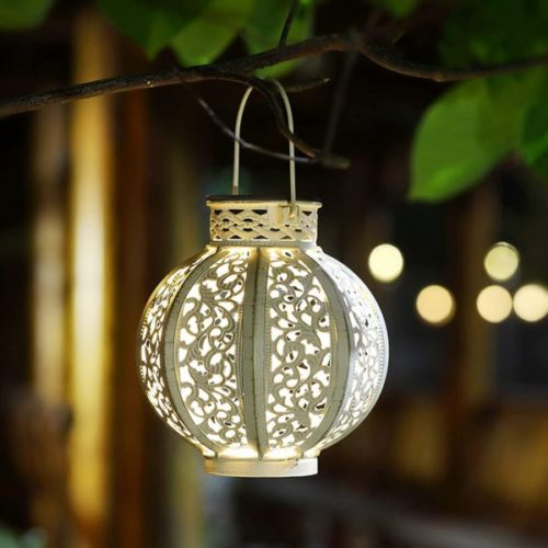 Maggift HangingSolar Powered Lantern for Home and Garden with Handle
