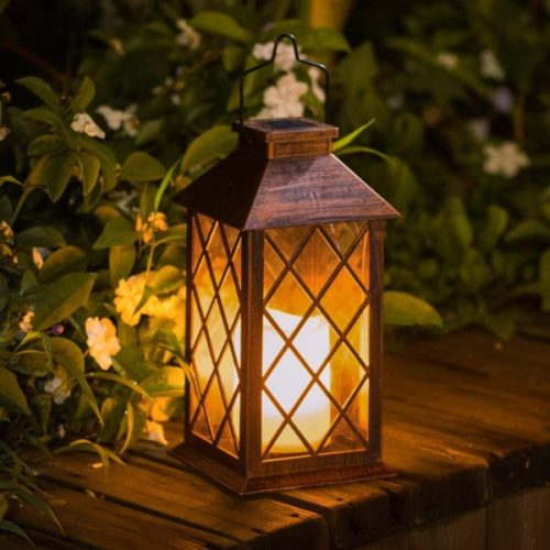 TAKE ME LED Solar Powered Lantern for Home and Garden Waterproof Flameless Candle