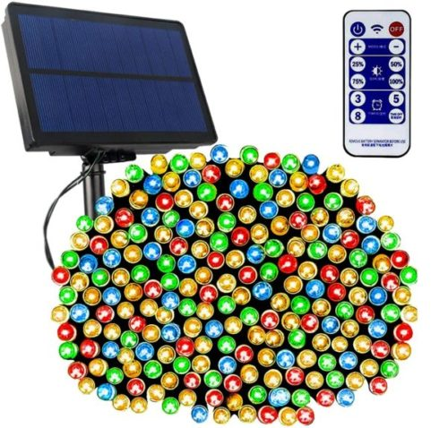 Tcamp LED Waterproof Solar Christmas Lights Outdoor with Remote Controls