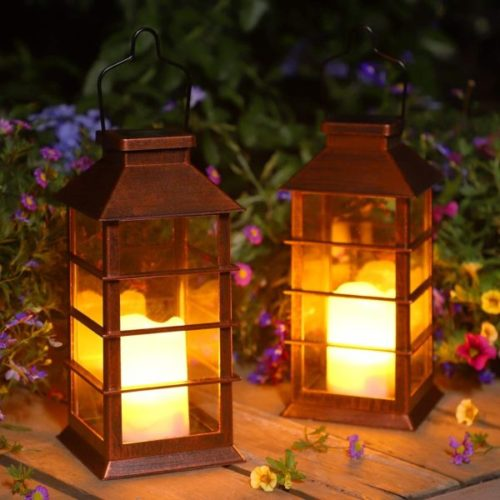 Ulmisfee Hanging LED Solar Powered Lantern for Home and Garden Decoration