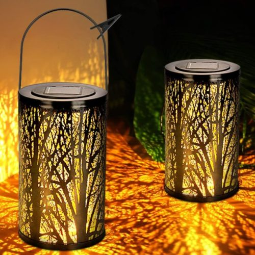 WENFENG Hanging Tabletop Solar Powered Lantern Decor for Home and Garden