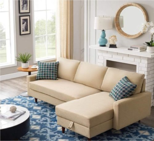YUIOP Sleeper Sofa with Storage L Shaped Couch