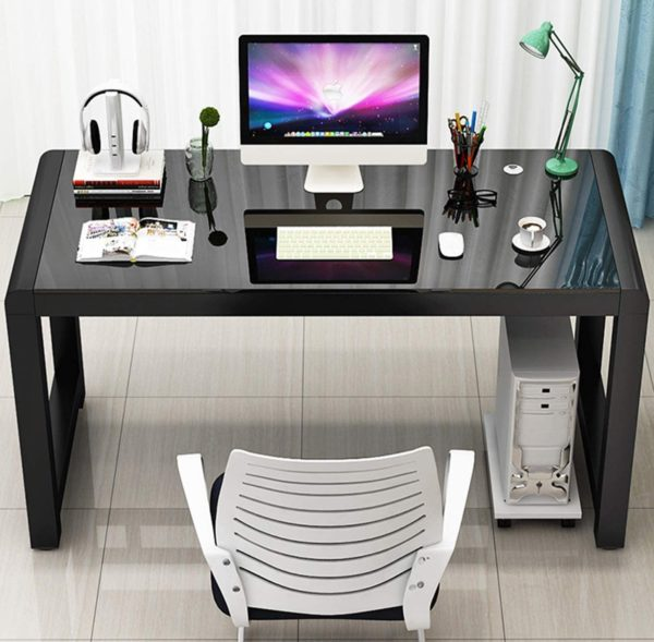 Jerry & Maggie Tempered Glass Computer Desk