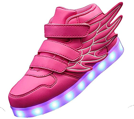 KarKein High Top Wings Light Up LED Shoes for Kids