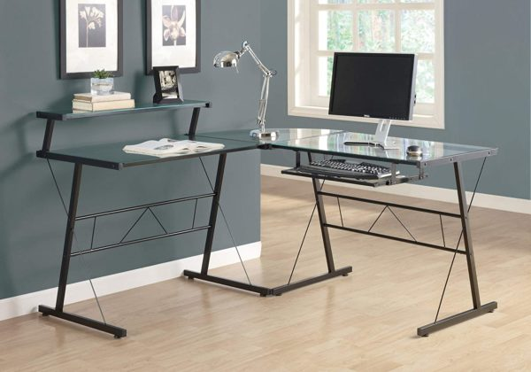Monarch Specialties Tempered Glass Computer Desk