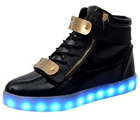 Littlepanda Leather Light Up LED Shoes for Women and Men