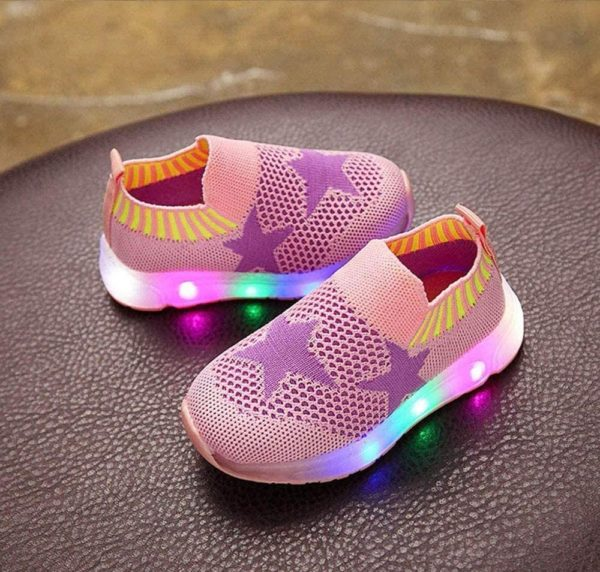 YLOVOW Fiber Optic Light Up LED Shoes for Men and Women