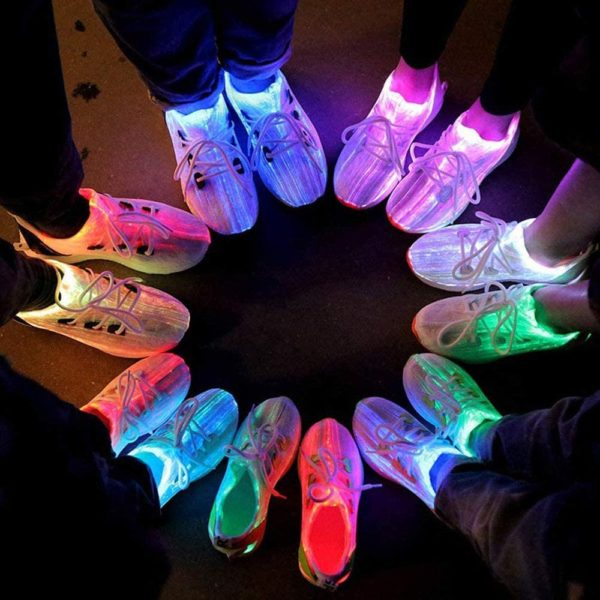 YLOVOW Fiber Optic Light Up LED Shoes for Women and Men